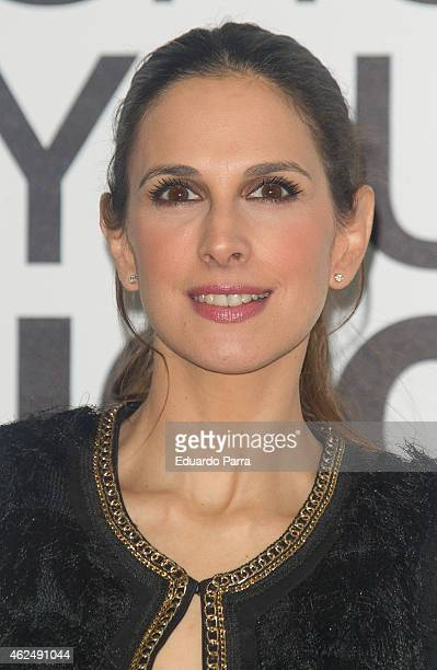 Singer Nuria Fergo attends Jockey new collection presentation at Price circus on January 29 2015 in Madrid Spain
