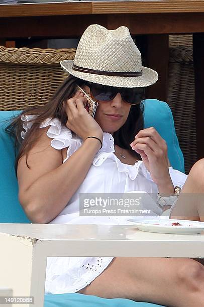 Singer Nuria Fergo is seen on July 23 2012 in Mallorca Spain