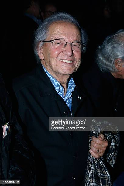 Singer of 'Compagnons de la chanson' Fred Mella attends the Concert of singer Charles Aznavour at Palais des Sports on September 15 2015 in Paris...