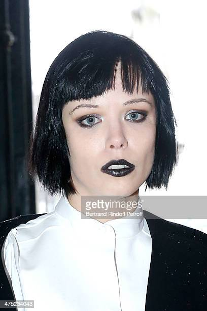 Singer of group 'Crystal Castles' Alice Glass attends the Balenciaga show as part of the Paris Fashion Week Womenswear Fall/Winter 20142015 Held at...