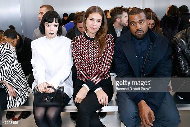 Singer of group 'Crystal Castles' Alice Glass Dasha Zhukova and Rapper Kanye West attend the Balenciaga show as part of the Paris Fashion Week...