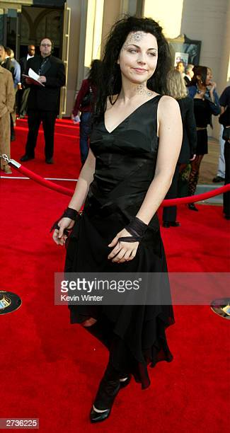 Singer of Musical Group Evanescense Amy Lee attends the 31st Annual American Music Awards held on November 16 2003 at The Shrine Auditorium in Los...