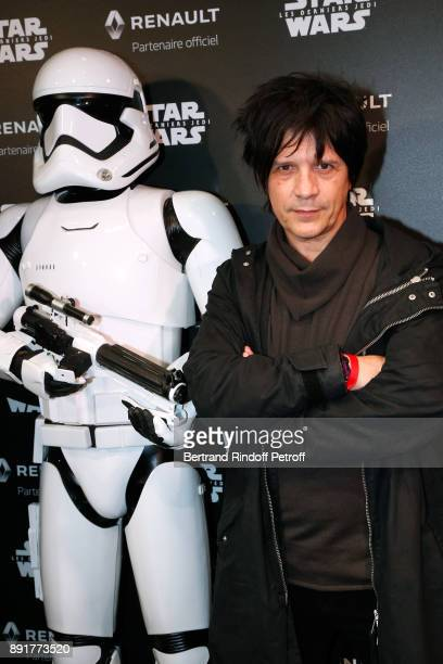 Singer of Musical Group 'Indochine' Nicolas Sirkis attends the 'Star Wars x Renault' Party at Atelier Renault on December 13 2017 in Paris France