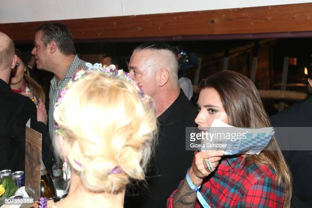 Singer of Rammstein Till Lindemann Sophia Thomalla during the 27th Weisswurstparty at Hotel Stanglwirt on January 19 2018 in Going near Kitzbuehel...