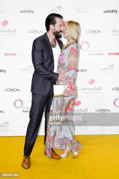 Singer of the band BossHoss Alec Voelkel and his wife Johanna Michels attend the Dreamball 2017 at Westhafen Event Convention Center on September 20...