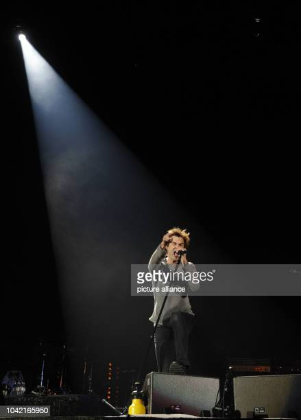 Singer of the Band 'Die Toten Hosen' Campino performes during the first concert of the tour 'Der Krach der Republik' in the Esprit Arena in...