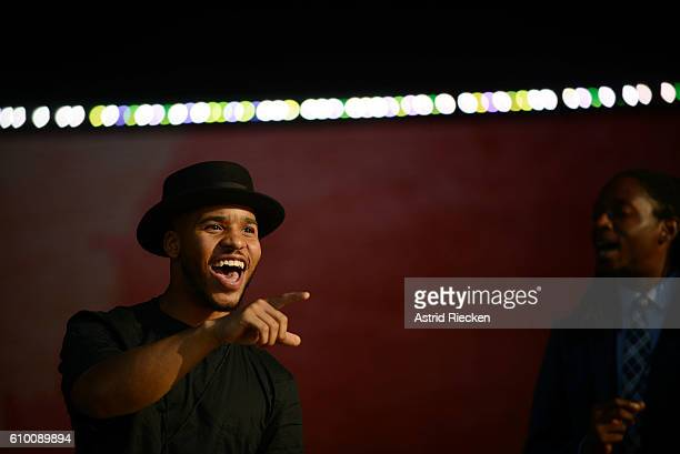 A singer of the entertainment program rehearses before President Obama attends the dedication of the National Museum of African American History and...