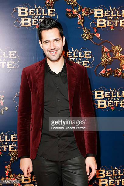 Singer of the movie song Yoann Freget attends 'La Belle et la Bete' Paris Premiere Held at Gaumont Opera on February 9 2014 in Paris France