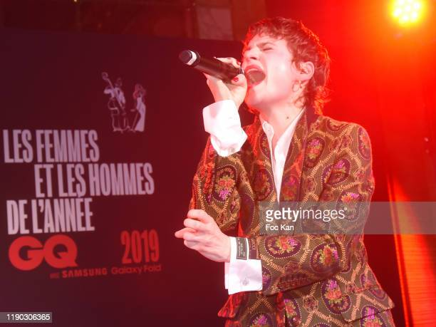 Singer of The Year award winner Christine and the Queens performs at GQ Women and Men Of The Year Awards 2019 Photocall At Hotel on November 26 2019...