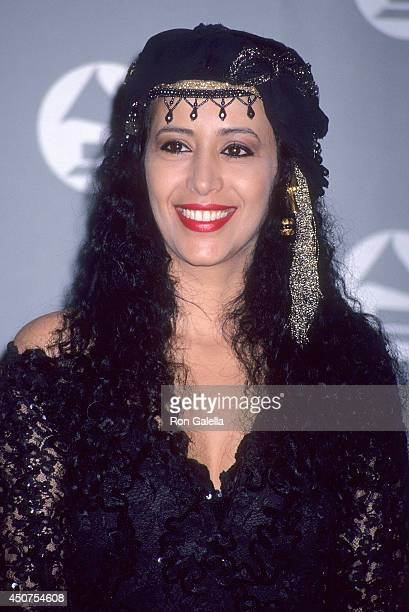 Singer Ofra Haza attends the 35th Annual Grammy Awards on February 24, 1993 at the Shrine Auditorium in Los Angeles, California.
