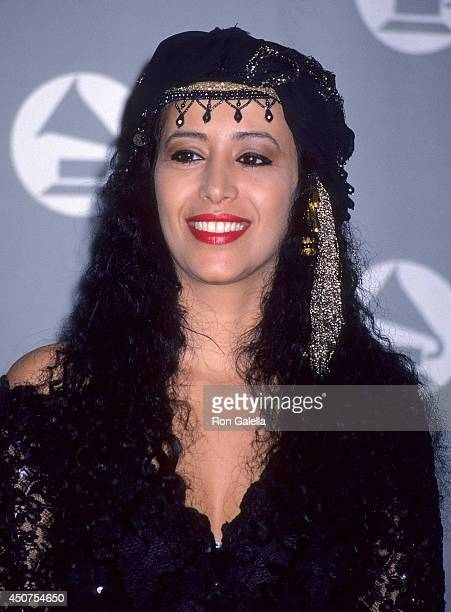 Singer Ofra Haza attends the 35th Annual Grammy Awards on February 24 1993 at the Shrine Auditorium in Los Angeles California