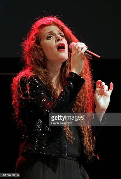 Singer Ofri Brin aka Ofrin performs live during the Frank Schaetzing Breaking News Tournee 2014 at the Tempodrom on October 22 2014 in Berlin Germany