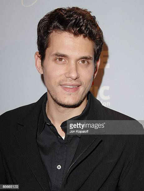Singer ohn Mayer arrives at VH1 Save the Music Foundation's One Splendid Evening Special Concert the Port of Los Angeles on March 26 2009 in San...