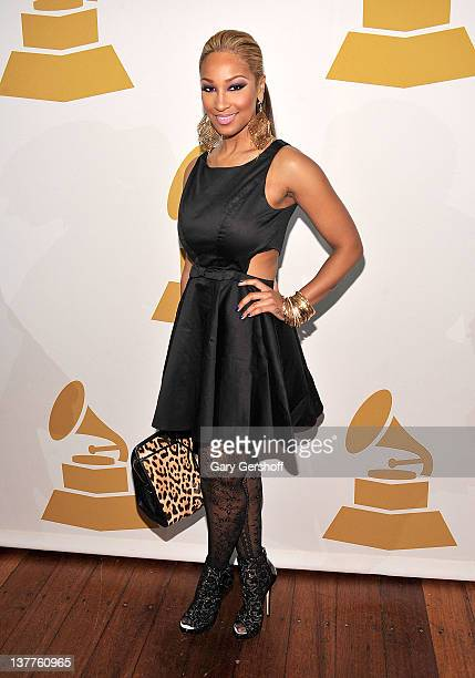 Singer Olivia attends GRAMMY Nominee Reception at Hudson Terrace on January 25 2012 in New York City