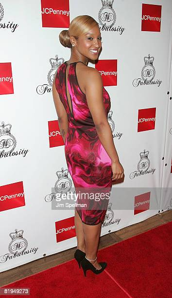 Singer Olivia attends the 'Fabulosity' launch party at Hiro on July 15 2008 in New York City