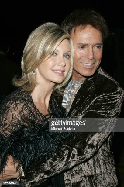 Singer Olivia NewtonJohn and actor Cliff Richard arrives at the Dionne Warwick 45th Anniversary Spectacular after party at the Hollywood Palladium on...