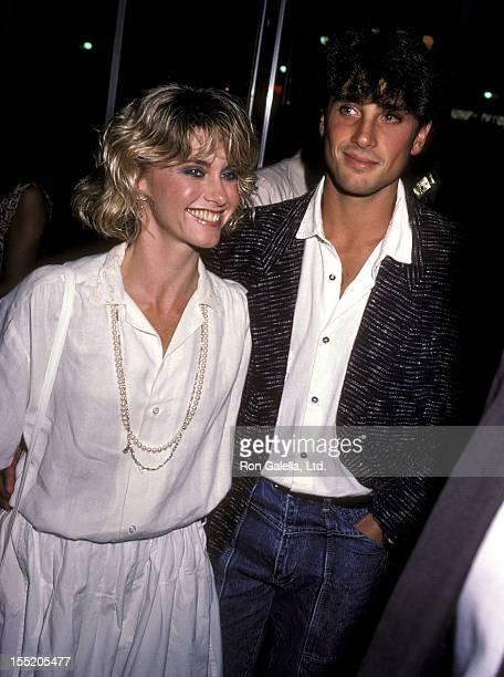 Singer Olivia NewtonJohn and boyfriend Matt Lattanzi attend the ABC Television Fall Season KickOff Party on September 19 1984 at Century Plaza Hotel...