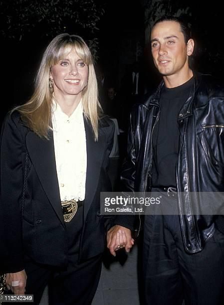 Singer Olivia NewtonJohn and husband Matt Lattanzi attend John Reid's 40th Birthday Party on September 9 1989 in Beverly Hills California