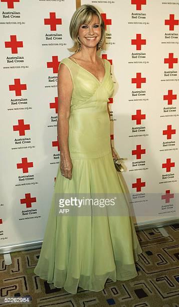 Singer Olivia NewtonJohn arrives at the Australian Red Cross 90th Anniversary Gala at the Westin Hotel 02 March 2005 in Sydney Australia Danish royal...