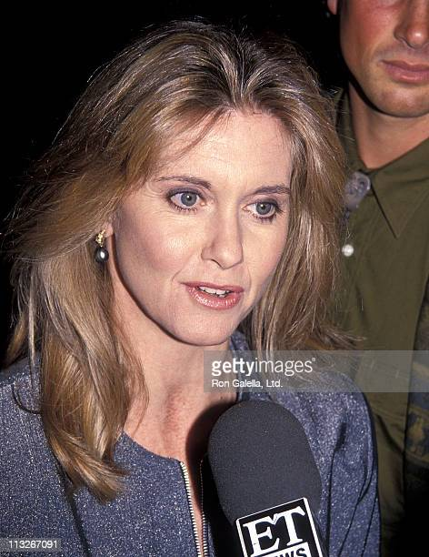 Singer Olivia NewtonJohn attend the 'Grease' 20th Anniversary Celebration on February 15 1992 at Sheraton Universal Hotel in North Hollywood...
