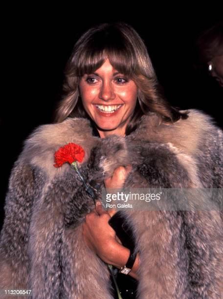 Singer Olivia NewtonJohn attends George Burns' 81st Birthday Party on January 29 1977 at Jerry Weintraub's Home in Beverly Hills California