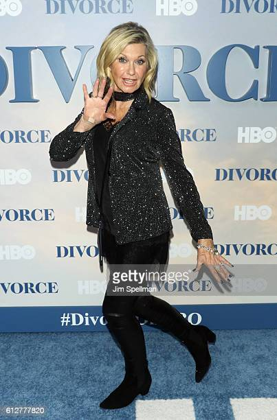 Singer Olivia NewtonJohn attends the 'Divorce' New York premiere at SVA Theater on October 4 2016 in New York City