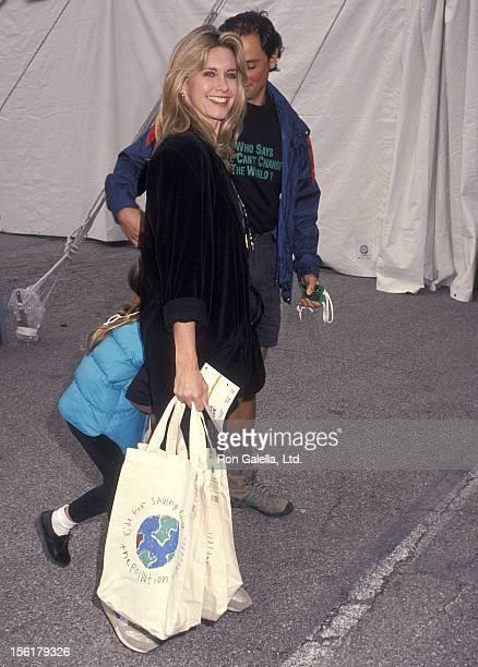 Singer Olivia NewtonJohn husband Matt Lattanzi and daughter Chloe Lattanzi attend the Permanent Charities Committee of the Entertainment Industries'...