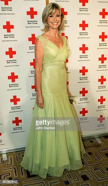 Singer Olivia NewtonJones arrives at the Australian Red Cross 90th Anniversary Gala at the Westin Hotel March 2 2005 in Sydney Australia Danish royal...