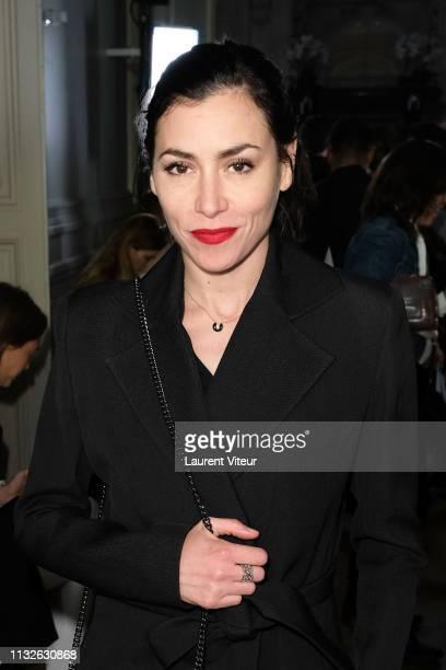 Singer Olivia Ruiz attends the Guy Laroche show as part of the Paris Fashion Week Womenswear Fall/Winter 2019/2020 on February 27, 2019 in Paris,...