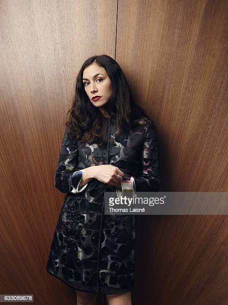 Singer Olivia Ruiz is photographed for Self Assignment on October 27 2016 in Paris France