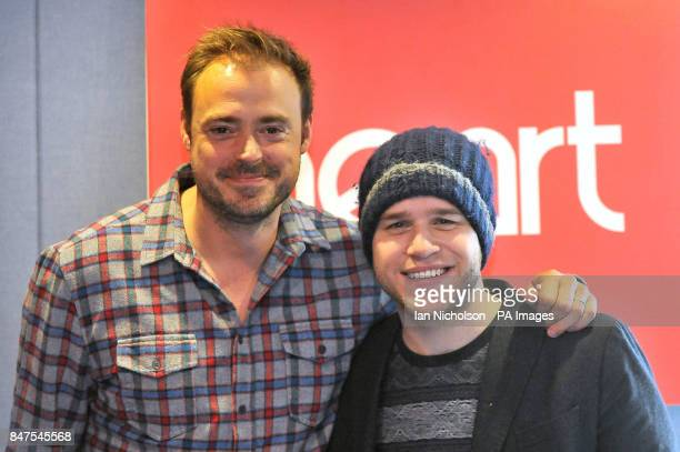 Singer Olly Murs co-hosts the Heart Breakfast Show with Jamie Theakston .