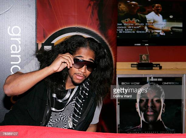 Singer Omarion poses while signing his new CD FACE OFF at Circuit City on December 11 2007 in New York City