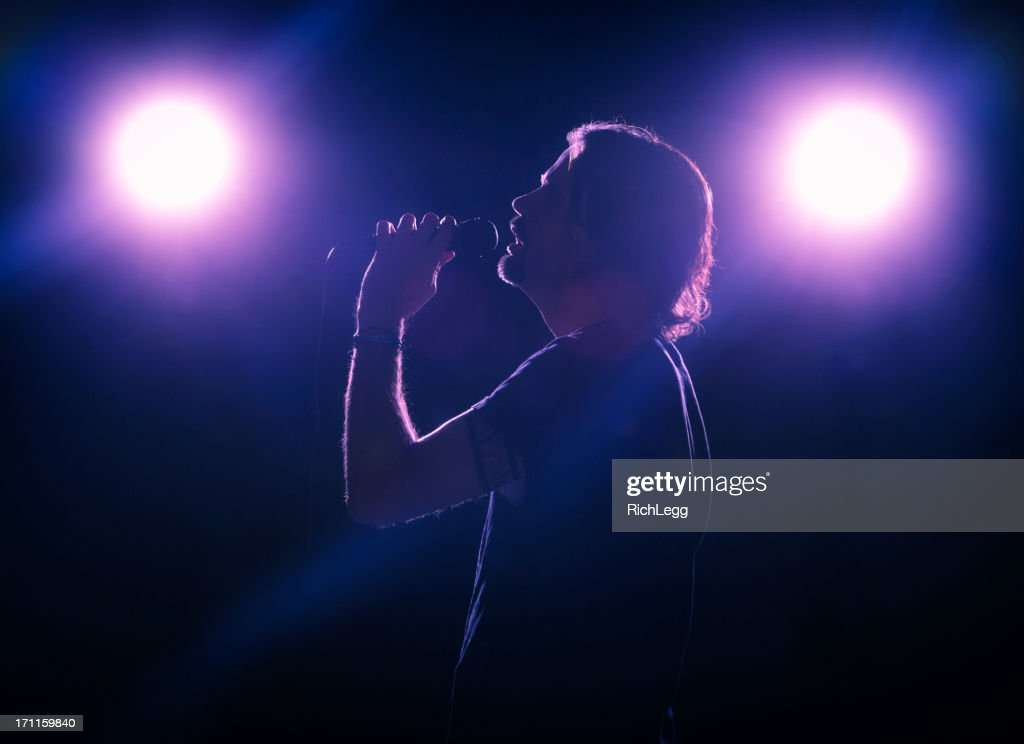 Singer on Stage : Stock Photo
