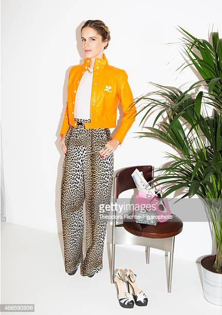 Singer Ophelie Meunier is photographed with her style obsession shoes for Madame Figaro on July 20 2014 in Paris France CREDIT MUST READ Theodora...