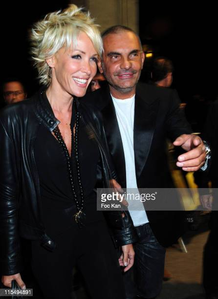 Singer Ophelie Winter and fashion designer Christian Audigier attend the Mansour Bahrami's Roland Garros Party at the VIP Room Theater on May 29 2009...