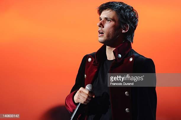 Singer Orelsan performs during 'Les Victoires de La Musique 2012' at Palais des Congres on March 3 2012 in Paris France