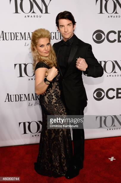 Singer Orfeh and actor Andy Karl attend the 68th Annual Tony Awards at Radio City Music Hall on June 8 2014 in New York City