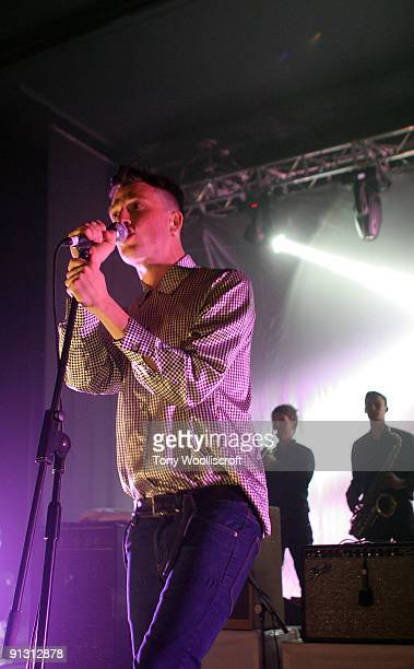 Singer Orlando Weeks of The Maccabees performs at Birmingham Academy on October 1 2009 in Birmingham England