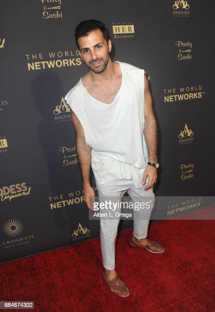 Singer Oshri arrives for The World Networks Presents Launch Of The Goddess Empowered held at Brandview Ballroom on May 17 2017 in Glendale California