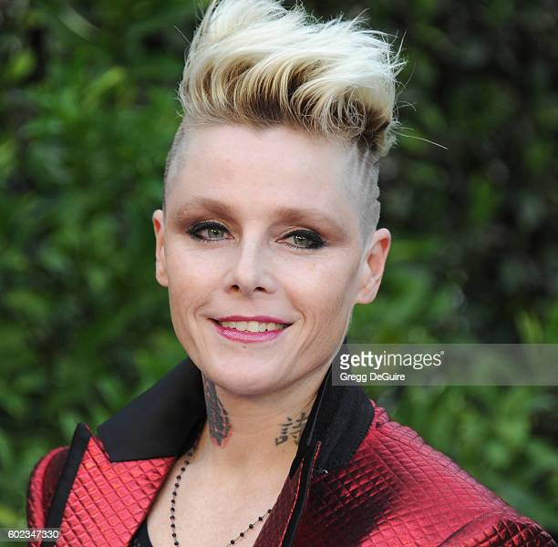 Singer Otep Shamaya arrives at Mercy For Animals Hidden Heroes Gala 2016 at Vibiana on September 10, 2016 in Los Angeles, California.