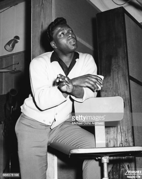Singer Otis Williams records in circa 1956 in Nashville Tennessee