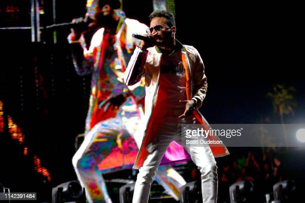 Singer Ozuna performs onstage during Weekend 1 Day 1 of the 2019 Coachella Valley Music and Arts Festival on April 12 2019 in Indio California