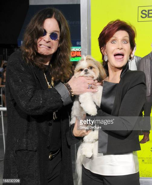 Singer Ozzy Osbourne and Sharon Osbourne arrive at the Los Angeles premiere of 'Seven Psychopaths' at Mann Bruin Theatre on October 1 2012 in...