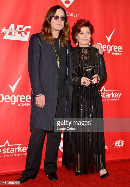 Singer Ozzy Osbourne and tv personality Sharon Osbourne attend 2014 MusiCares Person Of The Year Honoring Carole King at Los Angeles Convention...