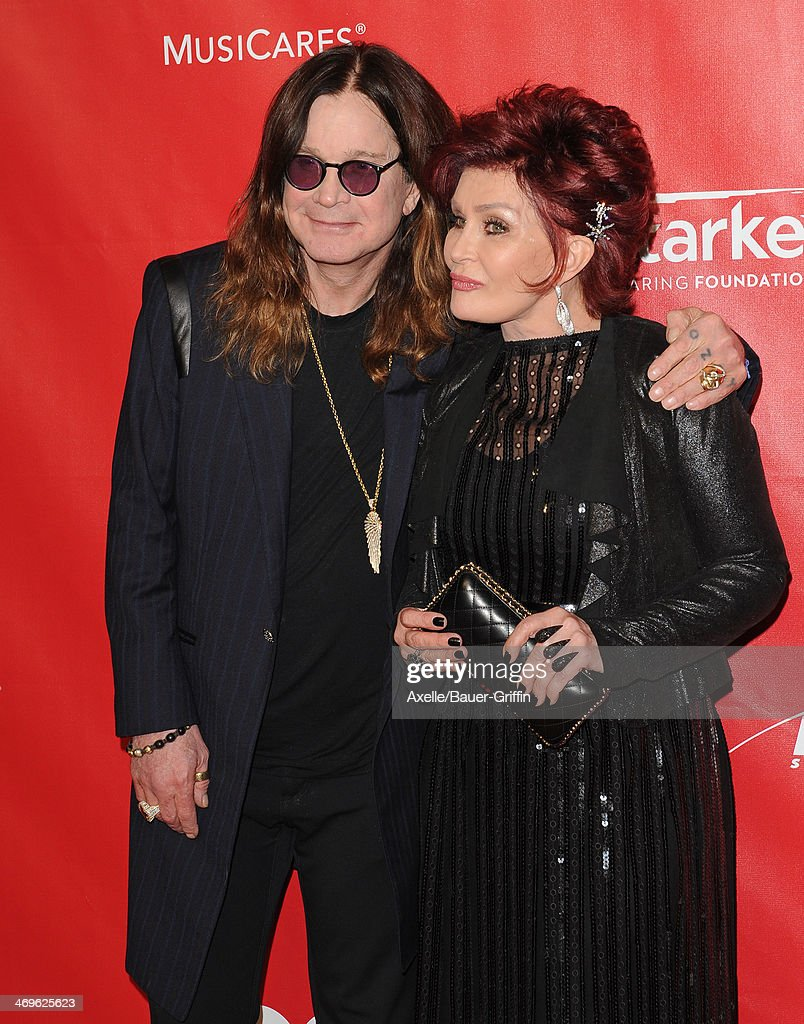 Singer Ozzy Osbourne (L) and tv personality Sharon Osbourne attend the 2014 MusiCares Person Of The Year honoring Carole King at Los Angeles Convention Center on January 24, 2014 in Los Angeles, California.