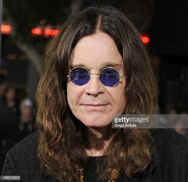 """Singer Ozzy Osbourne arrives at the Los Angeles premiere of """"Seven Psychopaths"""" at Mann Bruin Theatre on October 1, 2012 in Westwood, California."""
