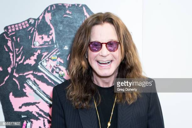 Singer Ozzy Osbourne attends the Billy Morrison Aude Somnia Solo Exhibition at Elisabeth Weinstock on September 28 2017 in Los Angeles California