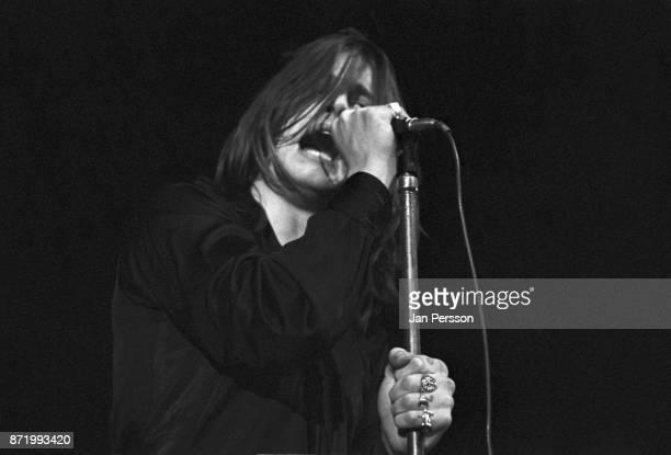 Singer Ozzy Osbourne of Black Sabbath performing Copenhagen Denmark December 1970