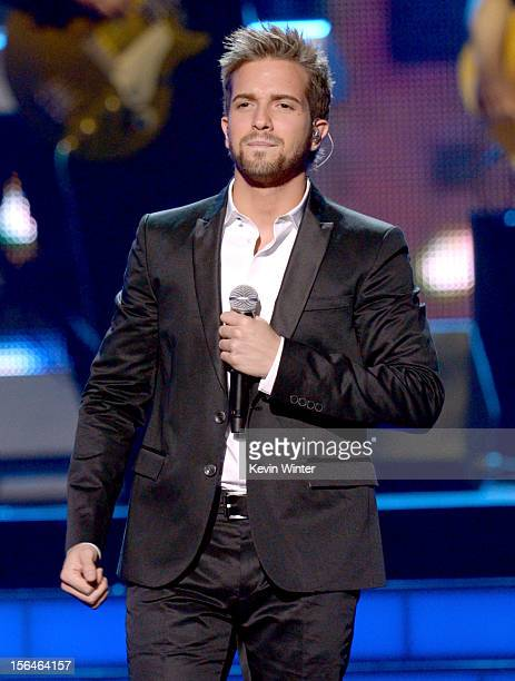Singer Pablo Alboran performs onstage during the 13th annual Latin GRAMMY Awards held at the Mandalay Bay Events Center on November 15 2012 in Las...