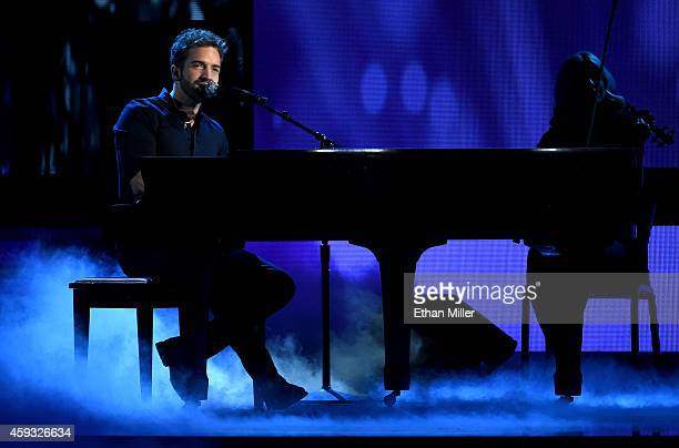 Singer Pablo Alboran performs onstage during the 15th Annual Latin GRAMMY Awards at the MGM Grand Garden Arena on November 20 2014 in Las Vegas Nevada